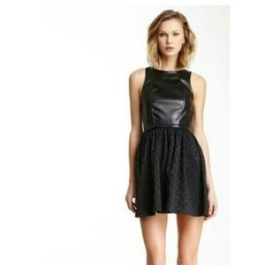 Love...ady black faux leather babydoll dress